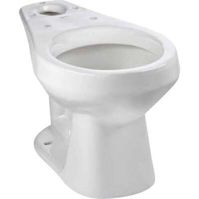 Mansfield Alto White Round Front 10 In. Rough-In Toilet Bowl
