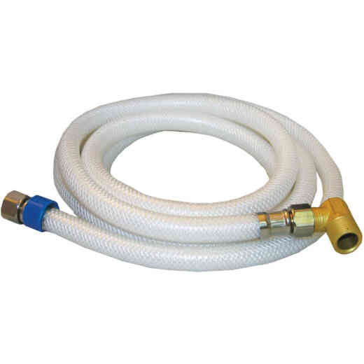 Lasco 3/8 In. x 3/8 In. x 72 In. L Braided Poly Vinyl Dishwasher Connector