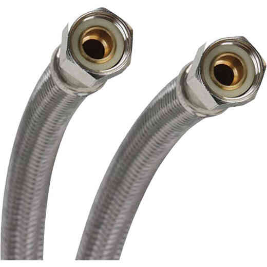 Fluidmaster 3/8 In. x 3/8 In. x 60 In. L Stainless Steel Dishwasher Connector