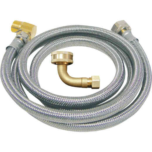 B&K 3/8 In. x 3/8 In. x 48 In. L Stainless Steel Dishwasher Connector