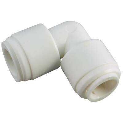 Anderson Metals 3/8 In. x 3/8 In. 90 Deg. Push-in Plastic Elbow (1/4 Bend)