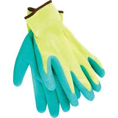 Do it Men's Large Grip Latex Coated Glove, Green