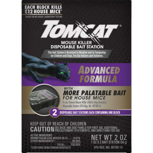 Tomcat Advanced Formula Disposable Mouse Bait Station (2-Pack)