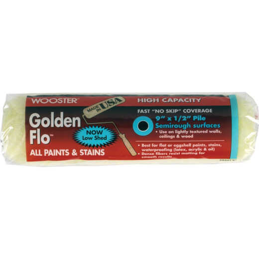 Wooster Golden Flo 9 In. x 1/2 In. Knit Fabric Roller Cover