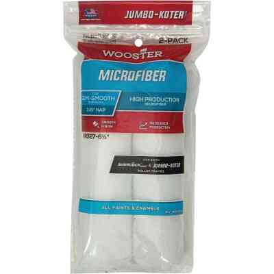 Wooster Jumbo-Koter 6-1/2 In. x 3/8 In. Mini Microfiber Trim Roller Cover (2-Pack)
