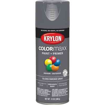 Krylon ColorMaxx 12 Oz. Gloss Spray Paint, Smoke Gray